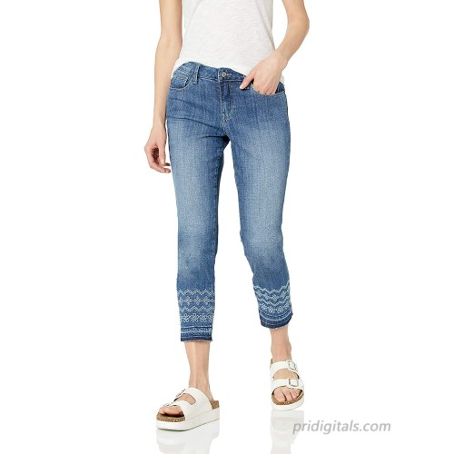 Laurie Felt Women's Classic Denim Stiletto Jeans with Embroidered Drop Hem Brushed Medium 00 at  Women's Jeans store