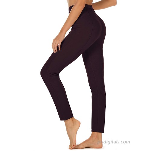 icyzone Women's Skinny Ankle Pants - Daily Pull-On Stretch Knit Leggings with Elastic Waistband at  Women's Clothing store